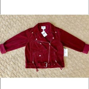 Forever21 Corduroy Zippered Red Jacket